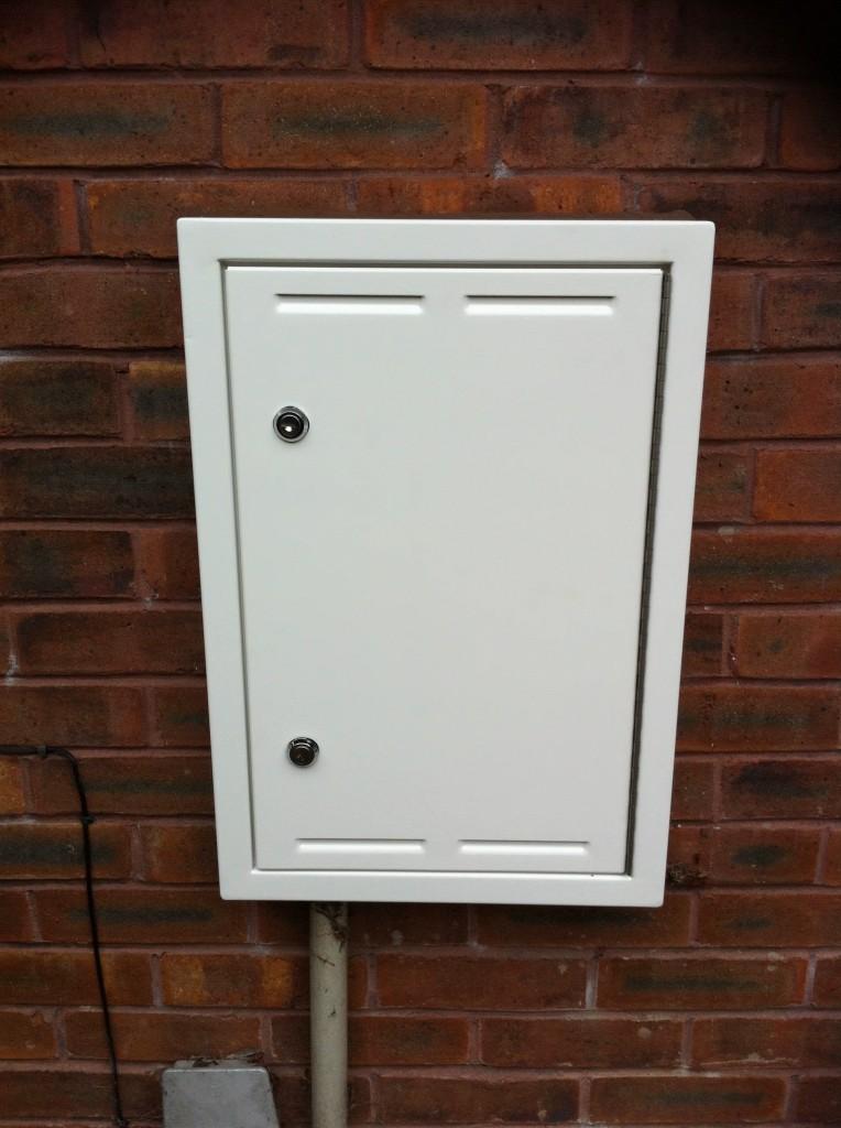 Power Meter Box : Repaired meter box jml hardware