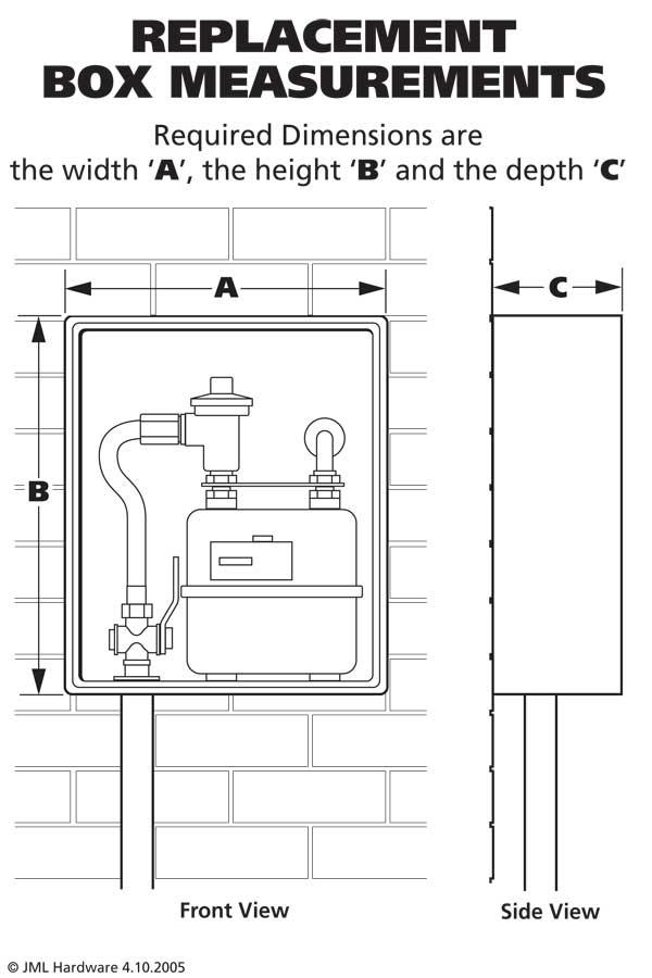 Meter Box Dimensions Jml Hardware